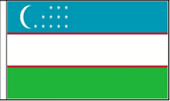 Uzbekistan Table Flags