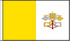 Vatican City Hand Waving Flags