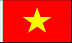 Vietnam Hand Waving Flags