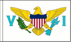 US Virgin Islands Table Flags