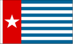 West Papua Table Flags
