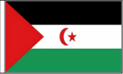 Western Sahara Hand Waving Flags