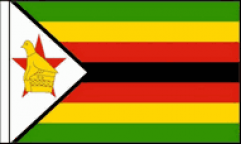 Zimbabwe Hand Waving Flags