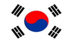 South Korea Flags