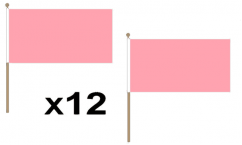 Plain Pink Hand Flags