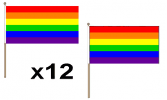 Rainbow Hand Flags