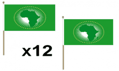African Union Hand Waving Flags