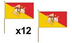 Sicily Hand Flags