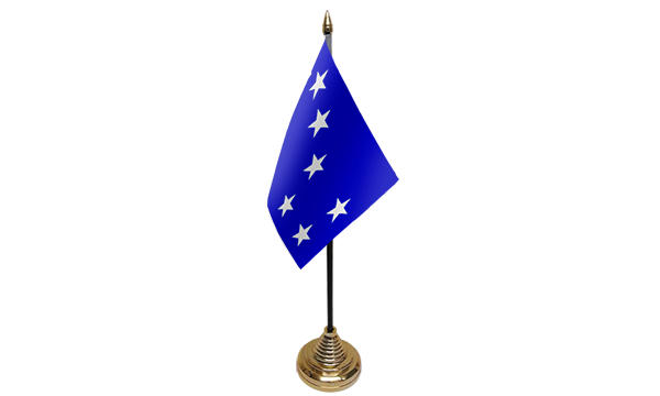 Starry Plough Royal Blue Table Flags