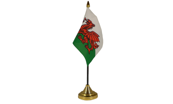 Wales Table Flags