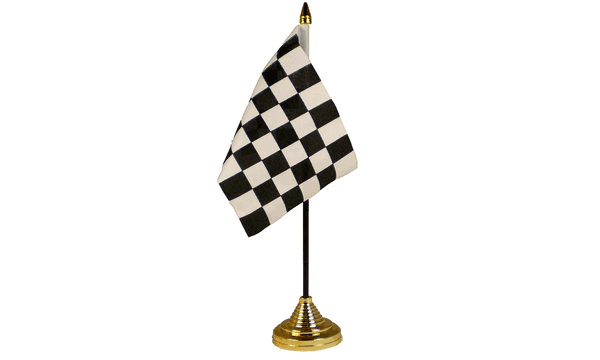 Black and White Check Table Flags