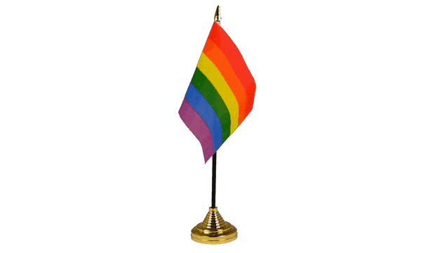Rainbow (LGBT) Table Flags