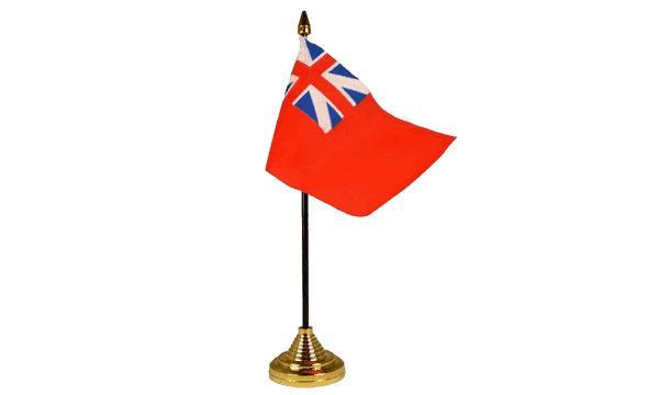 Red Ensign Colonial Table Flags