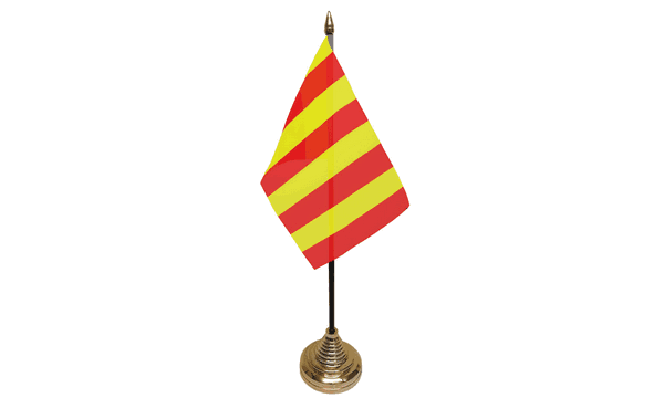 Red and Yellow Striped Table Flags