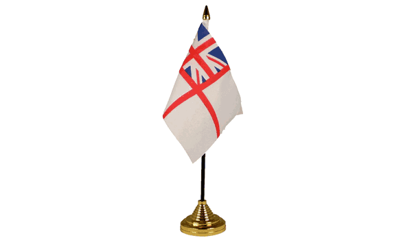 White Ensign Table Flags