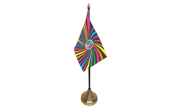 Rainbow Swirl Table Flags