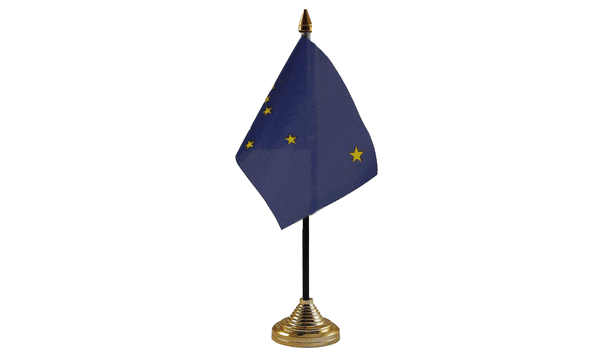 Alaska Table Flags