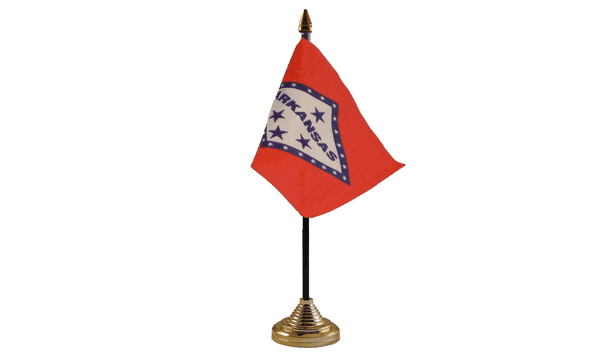 Arkansas Table Flags