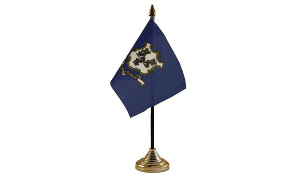 Connecticut Table Flags