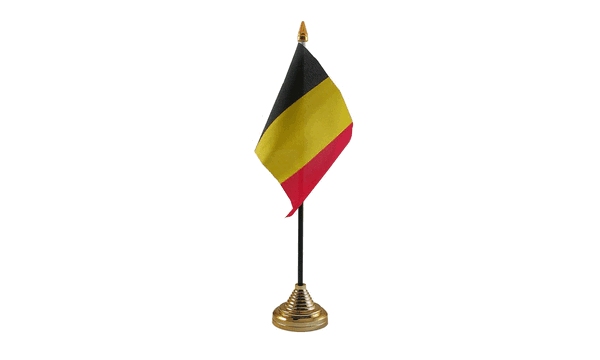 Belgium Table Flags