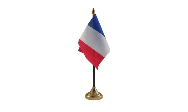 France Table Flags
