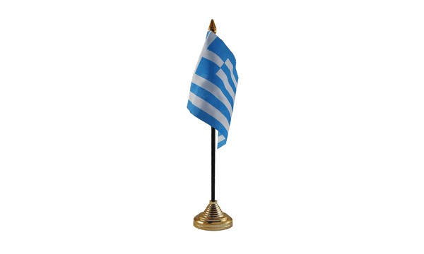 Greece Table Flags